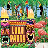 Amscan International All-in-one Decoration Kit Luau Hawaiian
