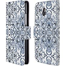 Official Micklyn Le Feuvre Calligraphy Doodle Pattern Mandala 2 Leather Book Wallet Case Cover For HTC One mini