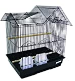 YML 1754BLK Villa Top Bird Cage in Black