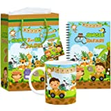 Klassik 4 in 1 Jungle Safari Theme Elite Combo Safari Jungle Theme Return Gifts for Birthday Party