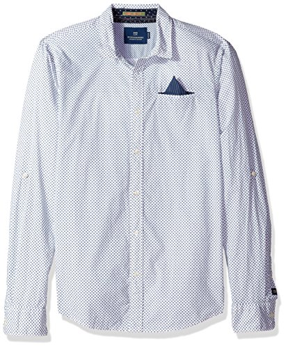 Scotch & Soda Herren Freizeithemd Detailed Shirt | Regular Fit Weiß