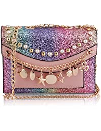 Suaveness Cute Decorative Pink Color Sling Bag For Women