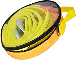 QUIT-X Car Tow Rope Straps with Hooks Reflective- 5T 11000LBS- 5M with Vehicle