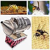 Janolia Fumoir de Beehive, Équipement Apicole de Bouclier de Chaleur de Mini Acier Inoxydable, Fumant des Abeilles Apaisant des Outils pour Apiculture d'apiculture, Culture d'abeille