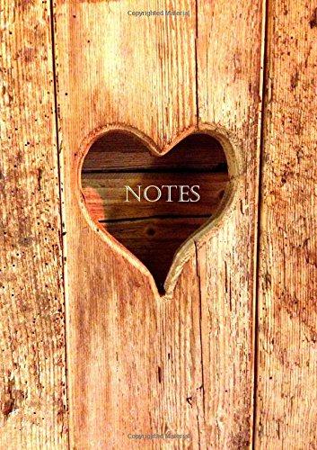 Notizbuch A4 - liniert - Herz aus Holz: Tagebuch