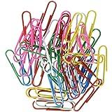5 Star 503344 - Caja de 100 clips, colores surtidos de 33 mm, colores surtidos