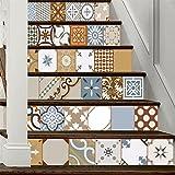 Colore Piastrelle di ceramica Fai da te Le scale Adesivi Corridoio passi Creativo Decorazioni per la casa , 100*18cm*6pcs