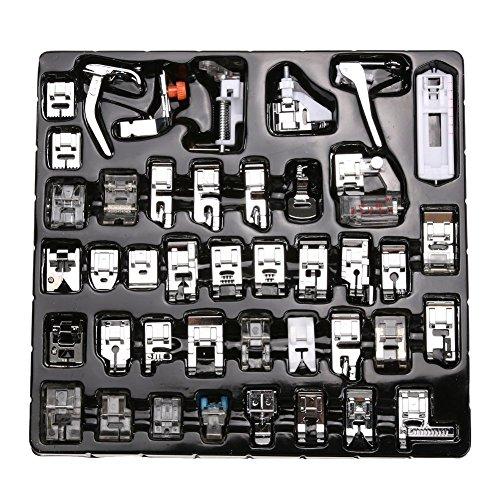 icase4u® Kit de 42 Piezas Multifuncional Prensatelas Accesorios para Máquina de Coser Presser Foot Feet Kit Machines Set