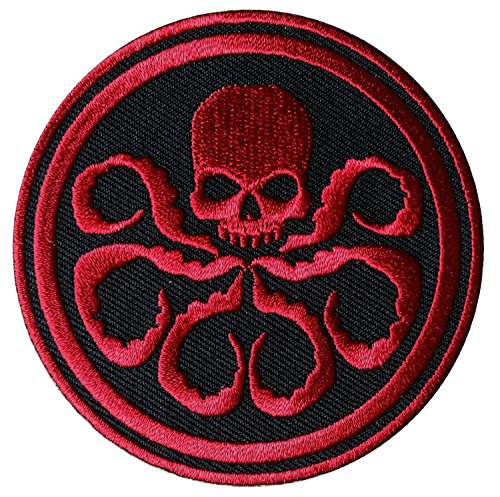 Dark Red Skull Hydra Agent Underworld Jacket Backpack Patch by Titan One Europe /Écusson Brod/é Thermocollant Patch