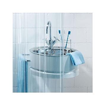 spirella plastic transparent shower curtain 180 x 200 cm
