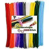 TOAOB Pfeifenreiniger 500 Stück Chenilledraht Farbig Sortiert Biegeplüsch für Kinder Zum Basteln und Dekorieren
