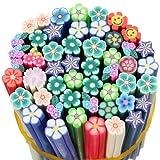 50 Nail Art Manicure 3D Flower Fruit Fimo Canes Rod Polymer Clay Stick Sticker Decoration Flower