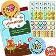 TRENDHAUS GMBH Stickerbuch für Lehrer 504 Sticker