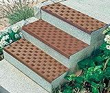 Westfalia Gummi Winkel - Stufenmatte, Dunkelbraun für einen sicheren Tritt