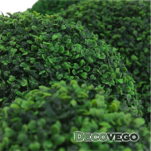 Buchsbaum Kugel Plastikpflanze Künstliche Pflanze Buxus Deko Ø55cm Innen und Aussen Decovego