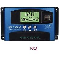 Ainstsk, contrôleur de Charge Solaire MPPT 40A-100a 12V/24V Mise au Point Automatique Suivi Régulateur de Panneau Solaire Dual USB Port contrôleur de Charge