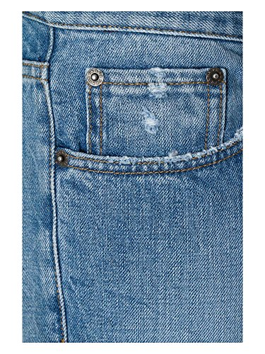 PRADA Herren Straight Cut Jeans Hellblau