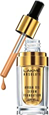 Lakme Absolute Argan Oil Serum Foundation with SPF 45, Natural Almond, 15ml
