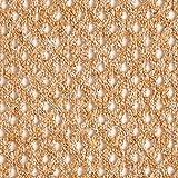 Fabulous Fabrics Strickstoff Gitter – orange — Meterware ab 0,5m — zum Nähen von Jacken, Pullovern und Strickjacken