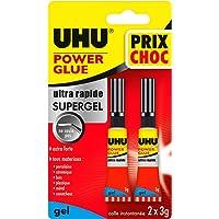 UHU Power Glue Gel Prix Choc Tubes 2x3g