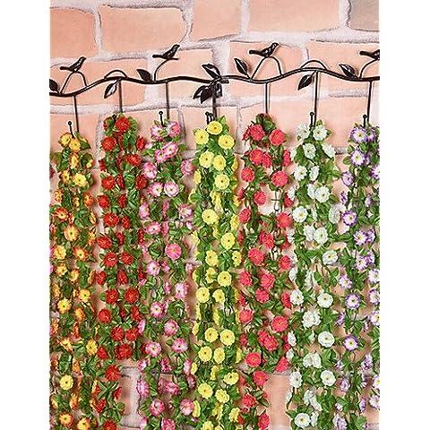 Home decorazione di fiori artificiali, seta Lilla