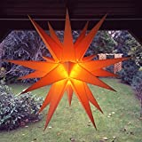 Außenstern / Outdoorstern, ca. 60 cm Adventsstern aussen / Weihnachtsstern / Leuchtstern, inkl. Elektrik (gelb)