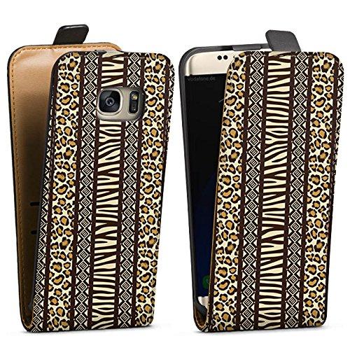 Samsung Galaxy S7 Tasche Hülle Flip Case Animal Print Afrika Zebra