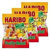 Haribo Fruity-Bussi, 3er Pack, Gummibärchen, Weingummi, Fruchtgummi, Im Beutel, Tüte