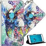 HMTECH Samsung G530 Hülle Galaxy Grand Prime Case Premium Design 3D Malerei Wallet Case Folio Flip PU Leder Kartenfächer Schu
