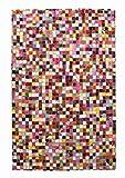 Meubletmoi Rechteckiger Teppich 60x 90–Patchwork Leder–Modern–Lali Mehrfarbig