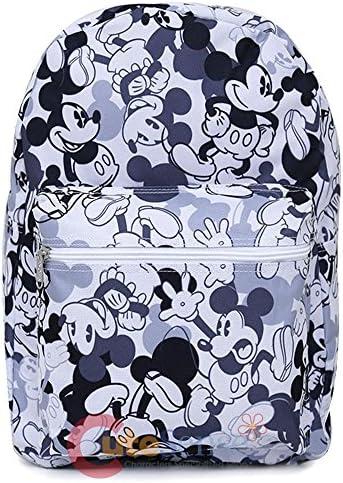 Mickey Mouse Sac à Dos – Disney Blanc/Gris All Over Print Nouveau 113858 | à La Mode