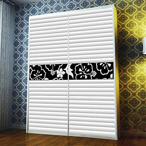 Custom yazi taglia Portico-Adesivo per porta scorrevole Decor opacità Probeco-Tende armadio-Adesivo da parete, motivo: