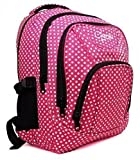 High Quality Small Large Womens Girls Butterfly Hearts Chervi College School Backpack Hand Luggage Bag (Large, Pink Polka)