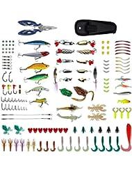 Zacro 241pcs Señuelos de Pesca, Caja de Anzuelos
