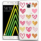 Caseink - Coque Housse Etui Samsung Galaxy A5 2016 (A510) [Crystal HD Collection Sweetie Design Doodling Hearts - Rigide - Ultra Fin - Imprimé en France]