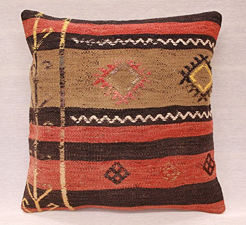 ETFA Kelim Kissen Kissenbezug Kissenhülle cushion cover pillow 40x40 cm 3520