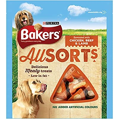 Bakers Dog Treat Chicken and Beef Allsorts, 98 g from Purina Bakers