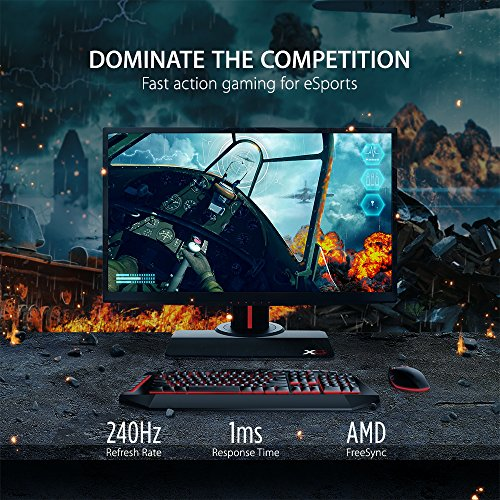 Affordable ViewSonic XG2530 25-inch Full HD Gaming Monitor with AMDFreeSync (240Hz 1ms 1080p HDMI DisplayPort Speakers) – Black Online