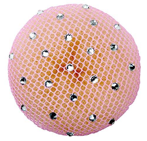 Dutt Haarnetz (Crystal) (pink) | Gymnastik | Rhythmische Sportgymnastik | Ballett | Reiten | Eiskunstlauf | Tanz | Knotennetz