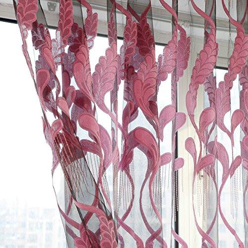 Mitsutomi Vorhang Blickdicht Verdunklungsgardine Gardinen - Wohnzimmer Wheat Sheer Curtain Tüll Fenster Behandlung Voile drapieren Volant 1 Panel Stoff-LäRmschutz Vorhang-200cm x 100cm (Baby-jungen-fenster Volant)
