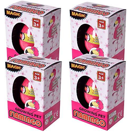 Te-trend 4 pezzi flamingo magico slittamento uovo acqua wunderei creatura bambini mitgebsel regalo 60mm rosa fucsia