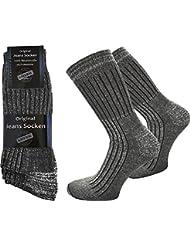 6 Paar Jeans Socken mit Frotteesohle aus 100% reiner Baumwolle von normani®