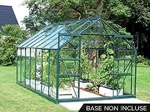Serre de jardin en verre Uranus 11,45 m² - Vert