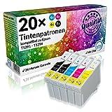N.T.T.® 20 x Stück XL Tintenpatronen für Epson Stylus (8 x T1291 , 4x T1292 , 4x T1293 , 4x T1294) mit Chip -- premium Qualität