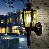 Lithx Moderne Einfachheit Wasserdicht Antirust Kupfer Outdoor Wandleuchte Glas Lampenschirm Garten Terrasse Balkon Wandleuchte Wandleuchte