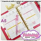 A5 - Personal - REFILL handmade per agende planner Settimana su 2 pagine verticale Cuori
