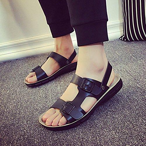 Unisex-Erwachsene Sandalen, Komfort Pantoletten Sandaletten Flip Flops Schwarz