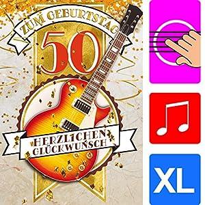 A4 XXL 50 Geburtstag Karte VIP 50th BIRTHDAY mit Umschlag edle Geburtstagskarte Gl/ückwunschkarte zum 50 Geburtstag f/ür Mann Frau von BREITENWERK