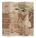 Fine Asianliving – Paravent - Raumteiler – Sichtschutz - Trennwand –Faltbar - Spanische Wand – Leinwand - Artprint – Canvas – Doppelseitig – Bedruckte Leinwand - 4 Fach (180 x 160 cm) - 205