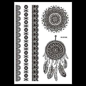 traumf nger mandala tattoo schwarz armband tattoo zum. Black Bedroom Furniture Sets. Home Design Ideas